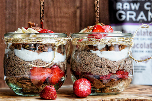 Rawcology Inc | Strawberry Banana Cacao Chia Parfait