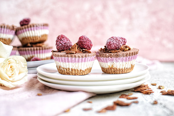 Rawcology Inc | Raspberry Chocolate Mousse Cakes