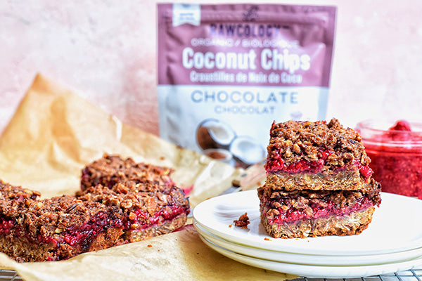 Rawcology Inc | Raspberry Granola Crumble Bars