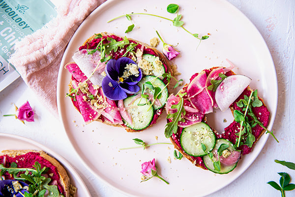 Rawcology Inc | Bagel and Beet Hummus