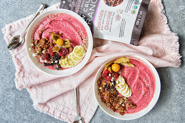Rawcology Inc | Pink Power Smoothie Bowl