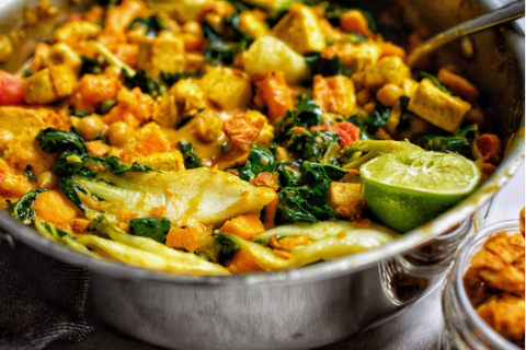 Chickpea Bok Choy Coconut Curry