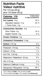Rawcology Inc. Smoky Cheeze Superfood Coconut Chips Nutrition Facts Table