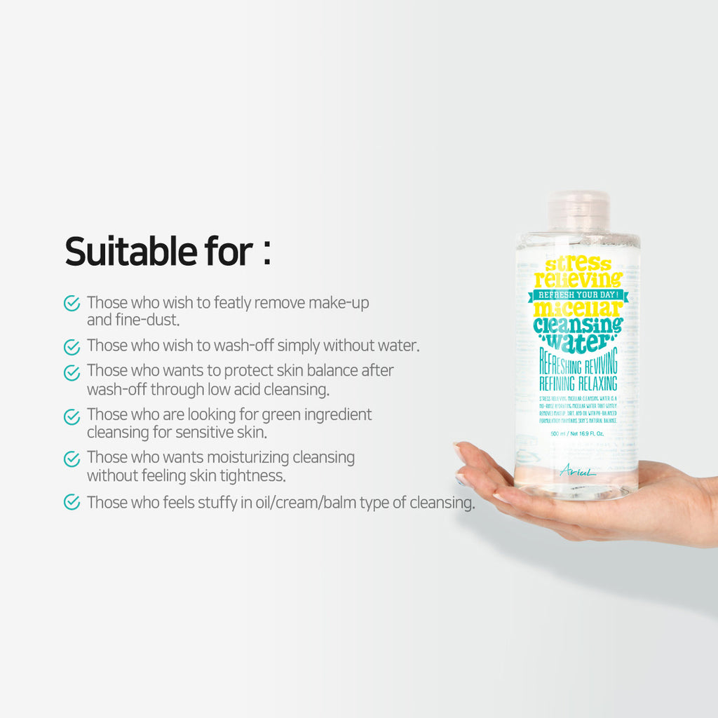 Stress Relieving Micellar Cleansing Water 500ml