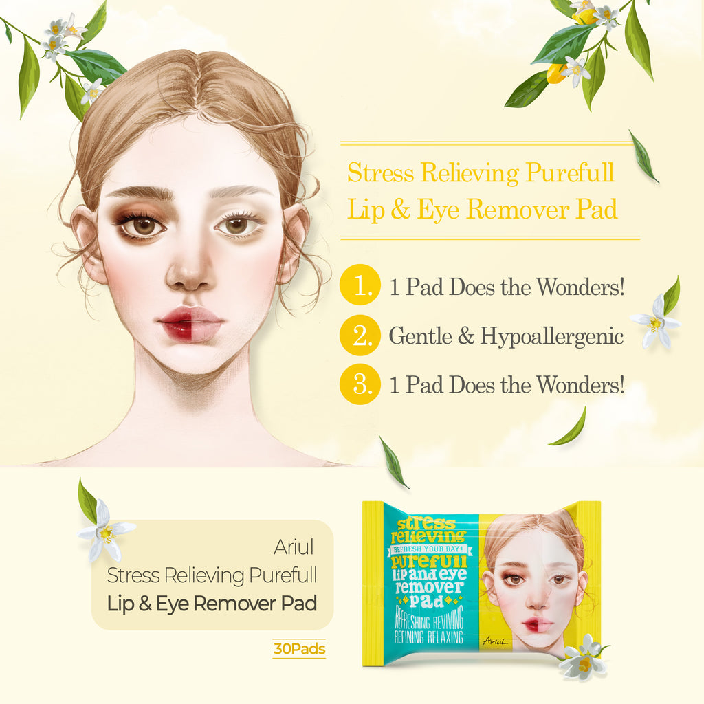 Stress Relieving Purefull Lip and Eye Remover Pad