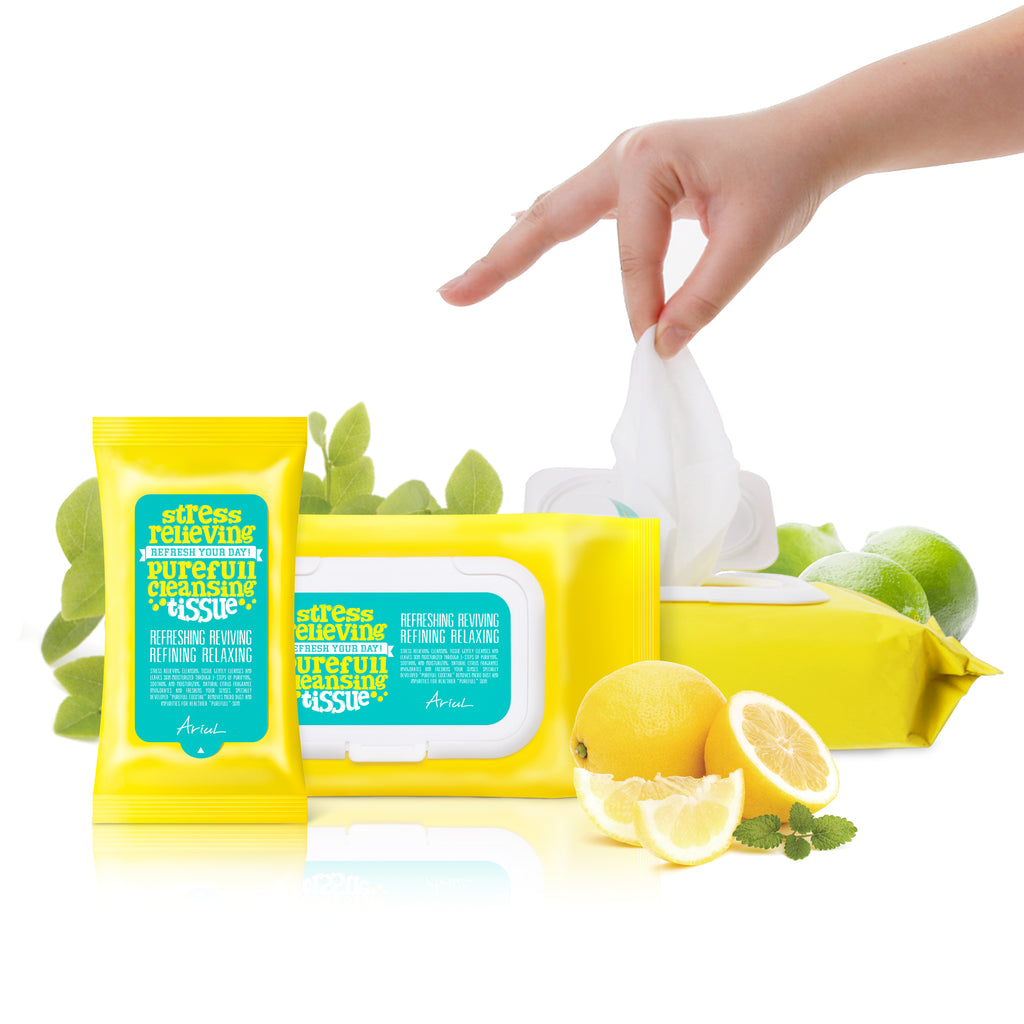 Stress Relieving Purefull Cleansing Tissue (15 Sheets)