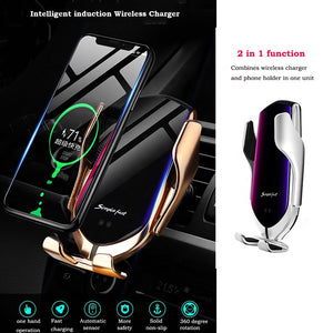 Car Wireless Phone Charger USB type C Car Vent Mount