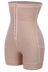 tummy control girdle waist trainer color nude by The Metro Box Store