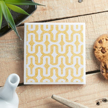Load image into Gallery viewer, Denim Yellow Coaster - Yellow Room Designs