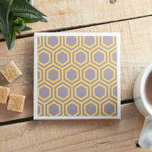 Load image into Gallery viewer, Honeycomb Grey Coaster - Yellow Room Designs
