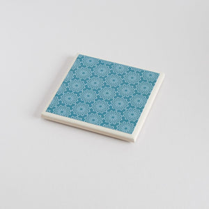 Teal Lace Coaster Set - Yellow Room Designs