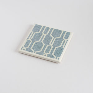 Denim Geometric Coaster Set - Yellow Room Designs