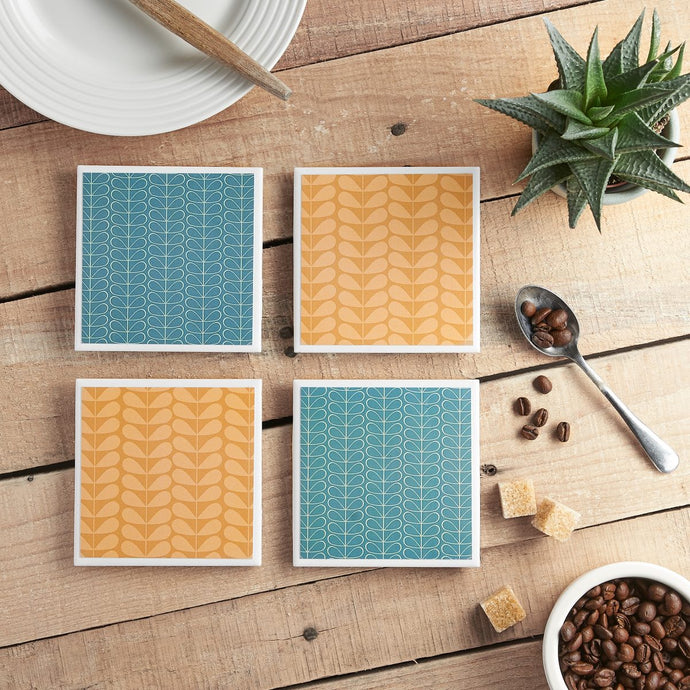 Mid-Century Modern Coaster Set - Yellow Room Designs