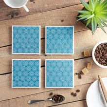 Load image into Gallery viewer, Teal Lace Coaster Set - Yellow Room Designs