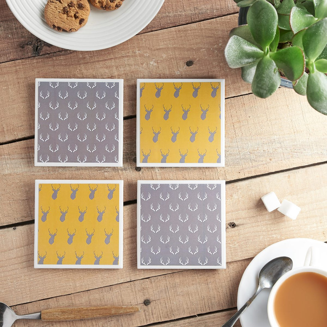 Stag Coaster Set - Yellow Room Designs