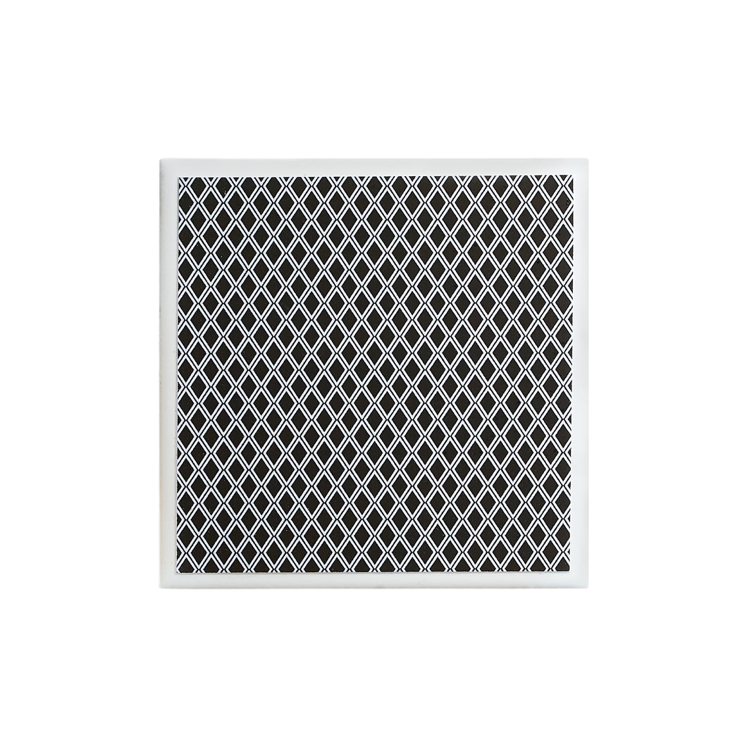 Monochrome Small Diamond Coaster