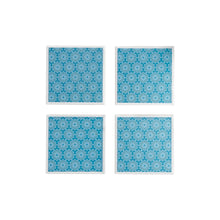 Load image into Gallery viewer, Teal Lace Coaster Set