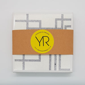 Denim White Coaster Mini Gift Set - Yellow Room Designs