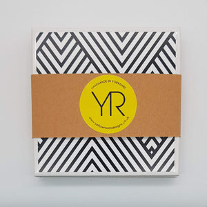 Monochrome Mountain Coaster Mini Gift Set - Yellow Room Designs