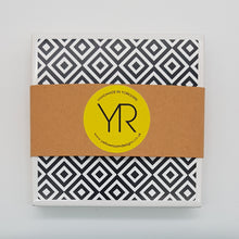 Load image into Gallery viewer, Monochrome Medium Diamond Coaster Mini Gift Set - Yellow Room Designs