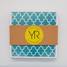 Load image into Gallery viewer, Teal Coaster Mini Gift Set - Yellow Room Designs