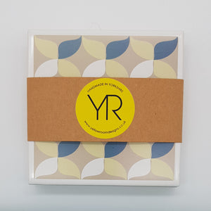Retro Geometric Coaster Mini Gift Set - Yellow Room Designs