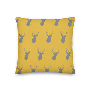 Cushion, Pillow, Mustard Stag