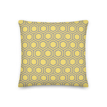 Load image into Gallery viewer, Cushion, Pillow, Honeycomb Yellow