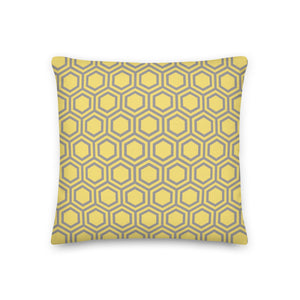 Cushion, Pillow, Honeycomb Yellow