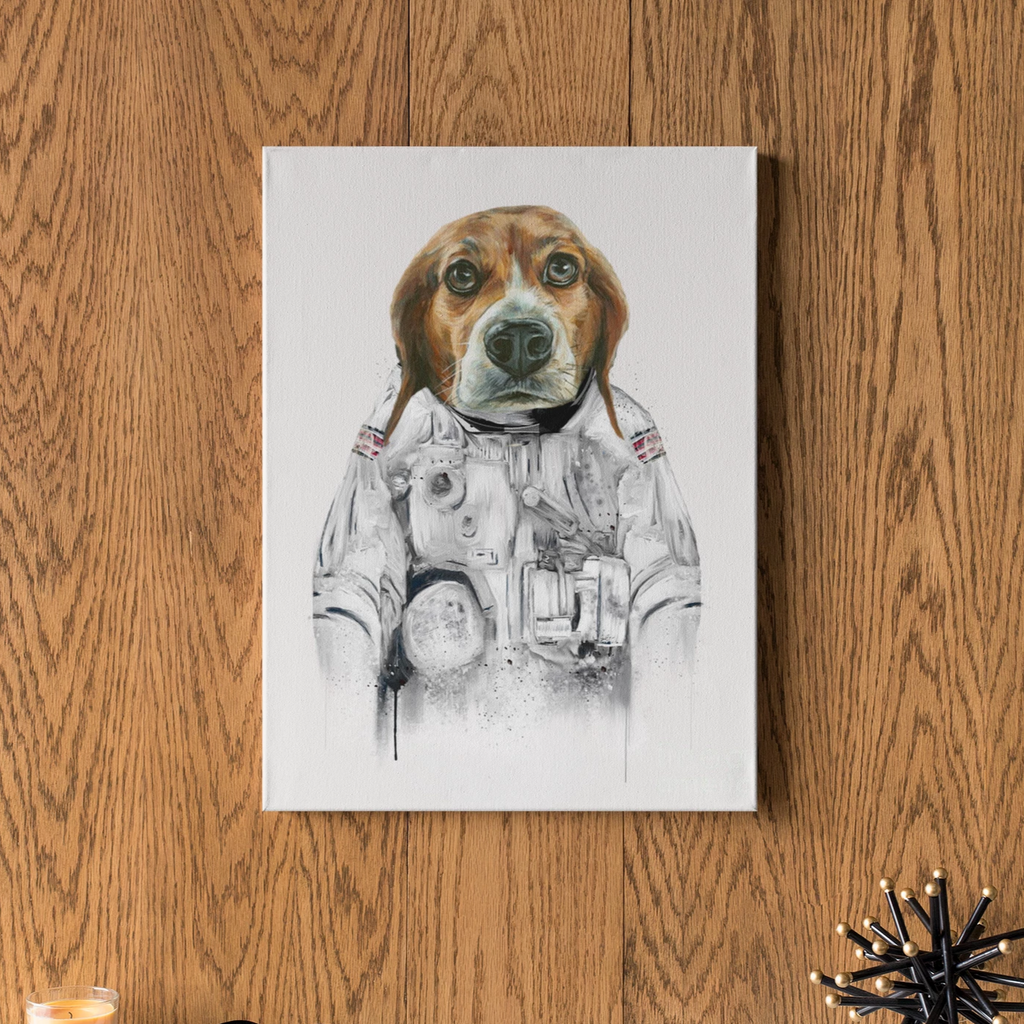 Astronaut - Custom Pet Face Canvas