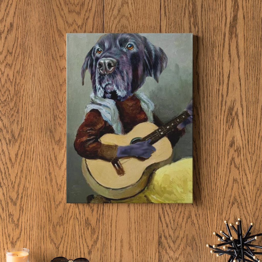 Guitarist - Custom Pet Face Canvas