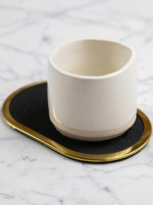 Pure Black Rubber Coasters (Set of 4)