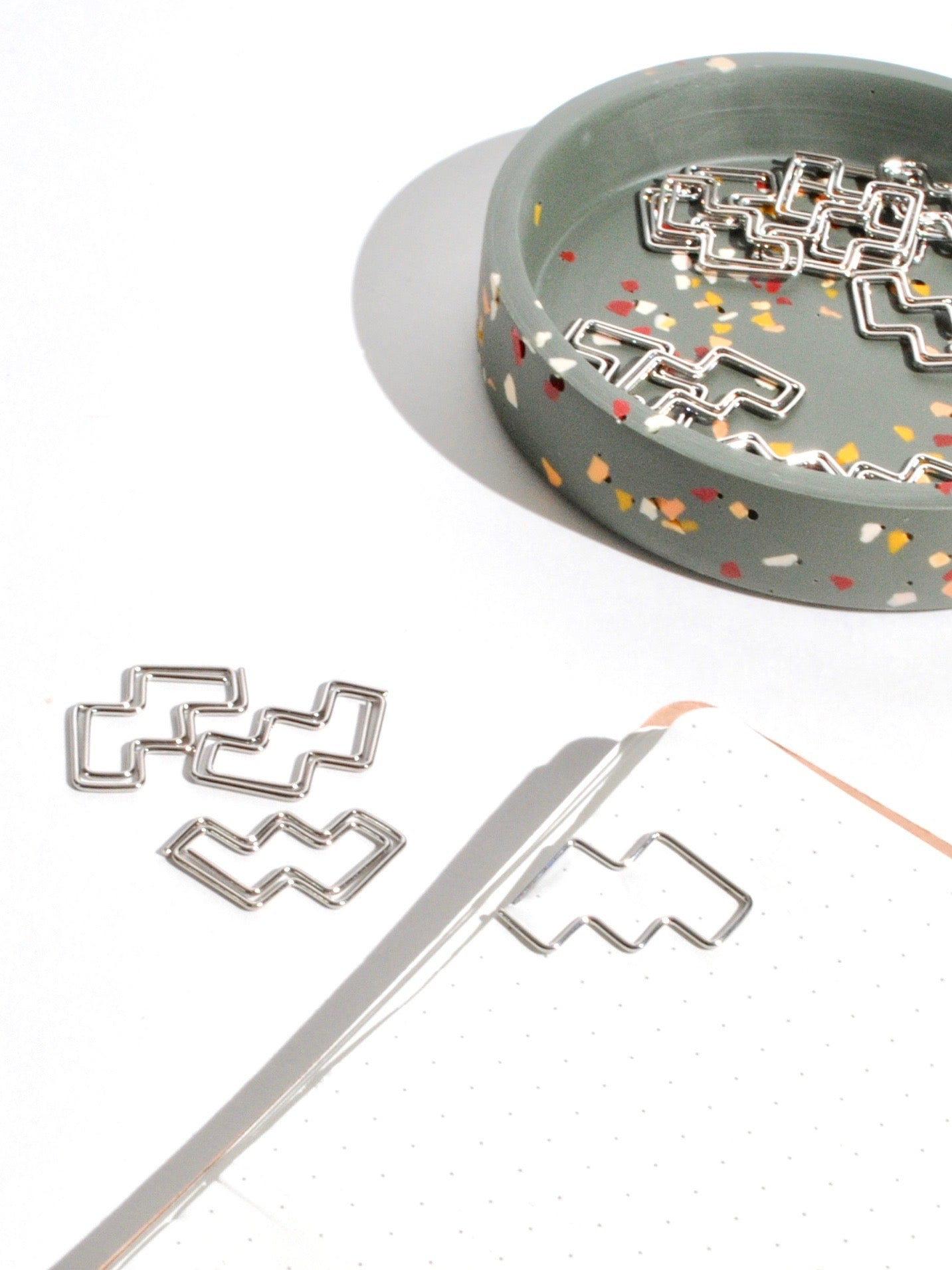 Chrome Steps Paper Clips