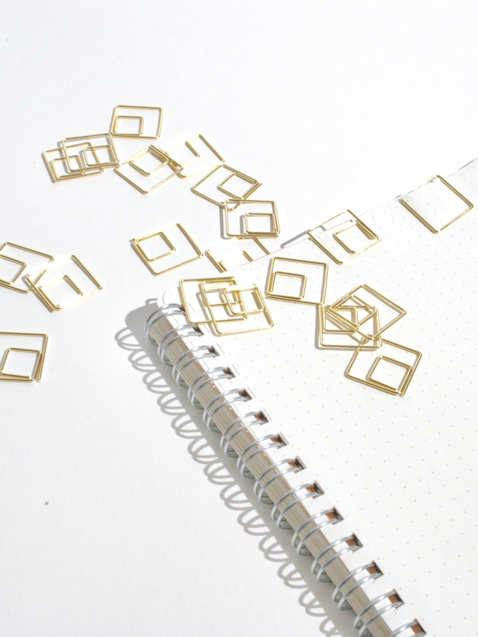Gold Square Paper Clips