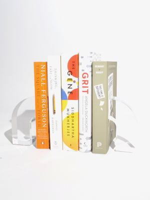 Lucite Arc Bookends
