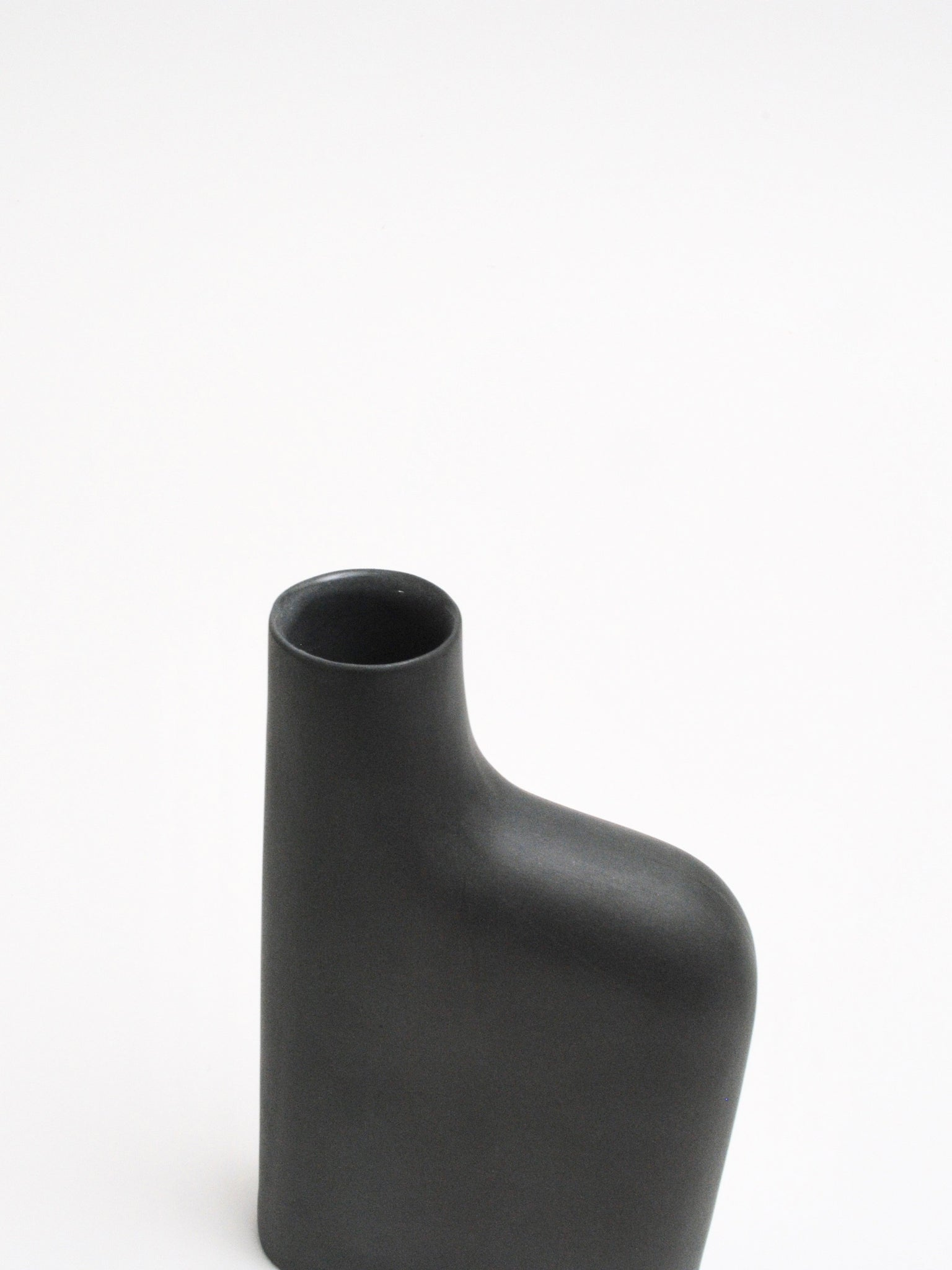 Porcelain Flask in Charcoal