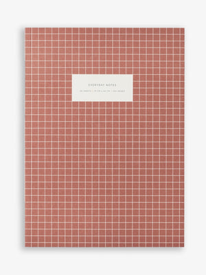 Brick Red Check Notebook