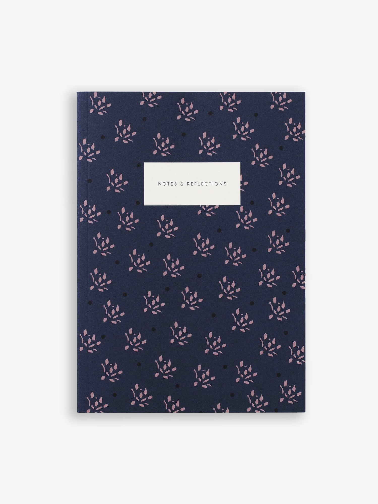 Navy Floral Notebook