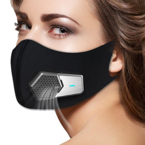 Smart Electric Face Dust Shield Air Purifying Anti Dust Pollution PM2.5 with Breathable Valve Workplace Safe Fresh Air Supply