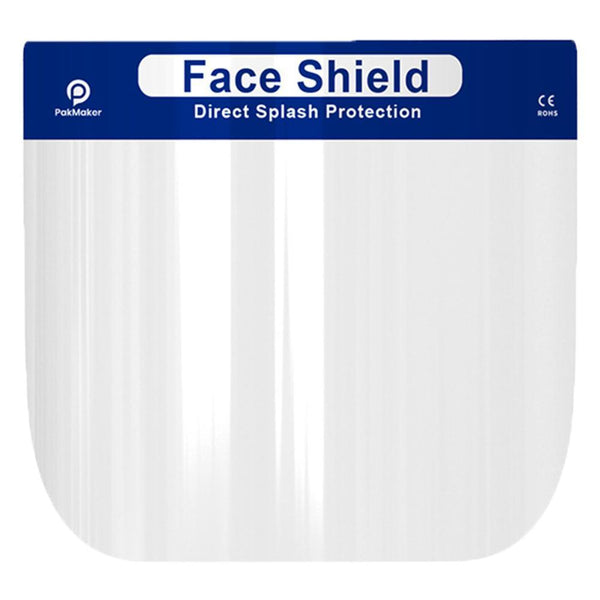5Pcs Safety Face Shield Fluid Resistant Full Face Shield Transparent Shield Visor Protection from Splash and Splatter