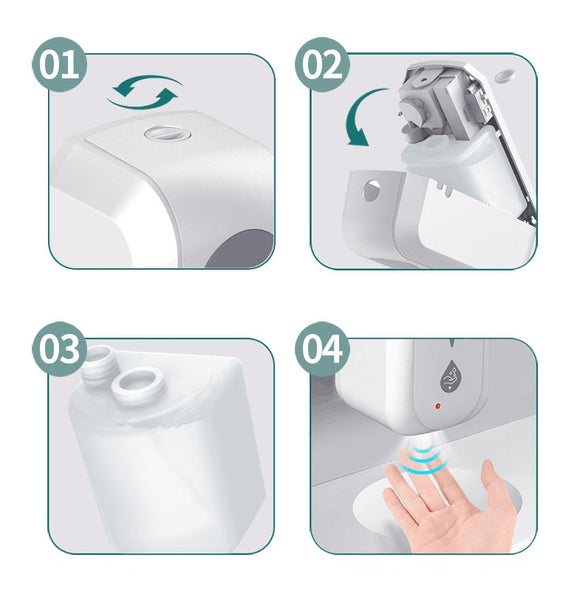 Touchless Hand Disinfection Machine Automatic Infrarot Sensor Wall-mounted Hand Sanitizer Alcohol Mist Dispenser