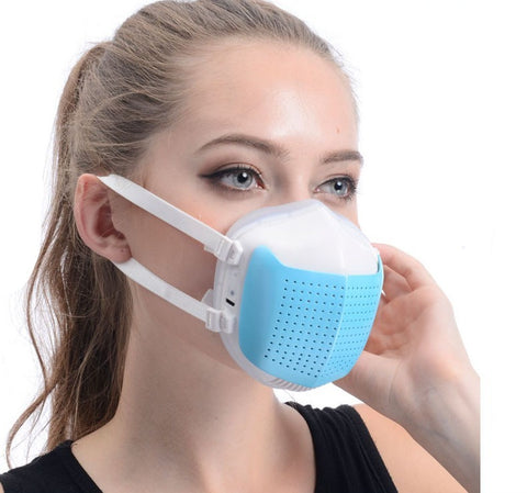 Intelligent Dustproof Mask Breathable Electric Windproof Face Mask, Half Face Breathing Valve and Stylish Ergonomic Silicone Fit Design