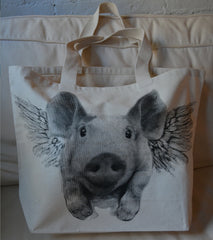 Flying Pig tote