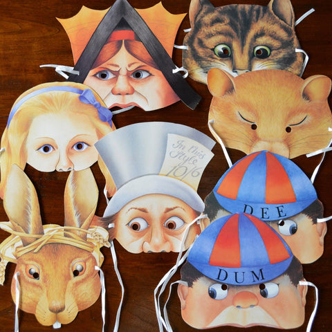 Alice in Wonderland Masks