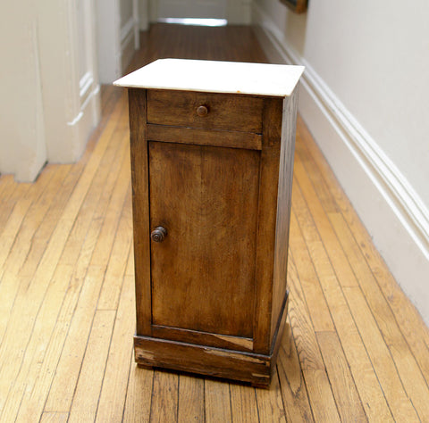 White Top Side Cabinet Table