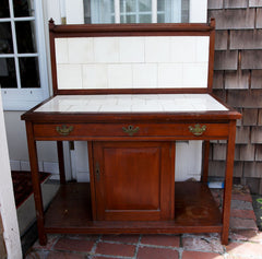Hutch with White Tile Top