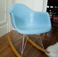 Blue Molded Rocking Chair