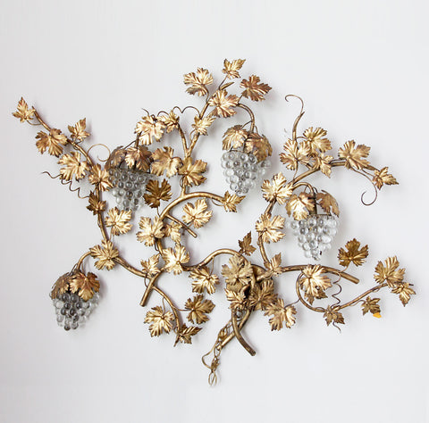 Gold Grape Vines Light Fixture