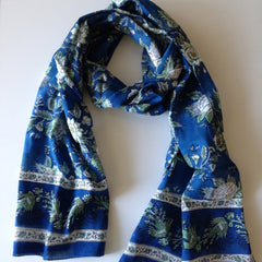 Briar Rose Blue Scarf by Anokhi