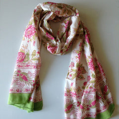 Briar Rose Pink Scarf by Anokhi